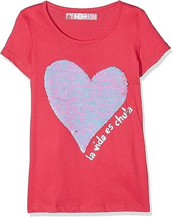 Desigual TS_CHIVITE Camiseta, Rosa (Fuchsia Rose 3022), 8 años (Talla del Fabricante: 7/8) para Niños: Amazon.es: Ropa y accesorios