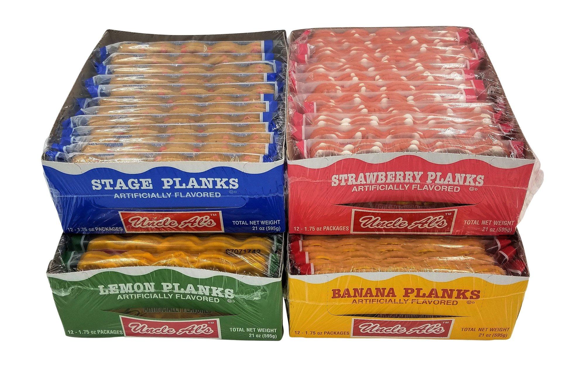 Uncle Als Stage Planks Bulk Variety Pack (Original, Banana, Lemon, and Strawberry)