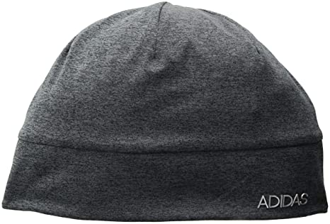 b9d2a278 adidas Men's Heather Tech Beanie, Black/Deepest Space/Matte Silver, One Size