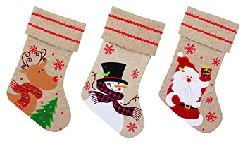 Calcetín para colgar con diseño navideño de Papá Noel