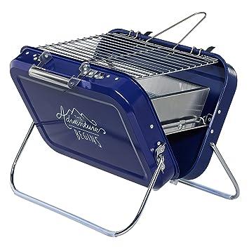 Hardware de caballeros gen253 portátil barbacoa, azul, 32 x 31, 5 x 40 cm: Amazon.es: Jardín