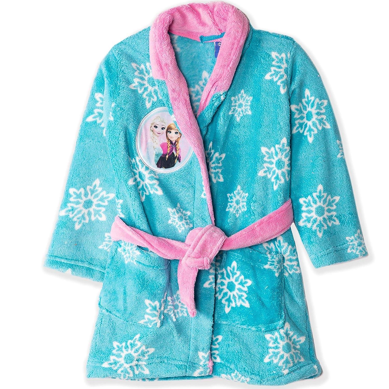 Disney Frozen Elsa /& Anna Personaggi a Tema Ragazze Coral Fleece Accappatoio Accappatoio Asciugamano Blu o Rosa con Motivo Fiocchi di Neve 2-8 Anni