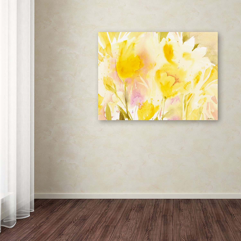 Amazon Com Yellow Gardens Matted Framed Art By Sheila Golden In Black Frame 16 By 20 Inch Framed Original Artwork Wall Art