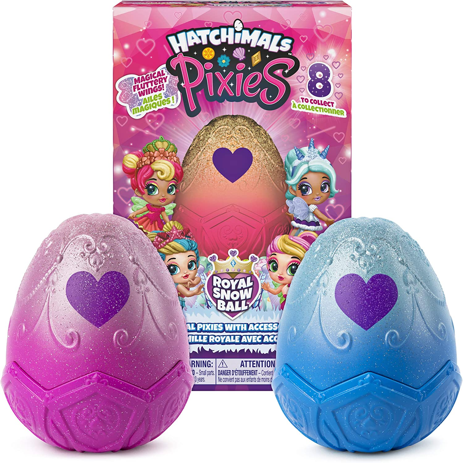 Hatchimals Pixies 2.5/' Collectible Doll and Accessories blue