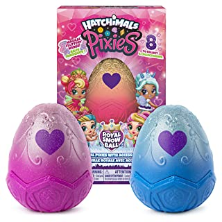 Hatchimals, Pixies Royals 2-Pack, 2.5-Inch Collectible Dolls and Accessories, for Kids Aged 5 and Up (Styles May Vary)