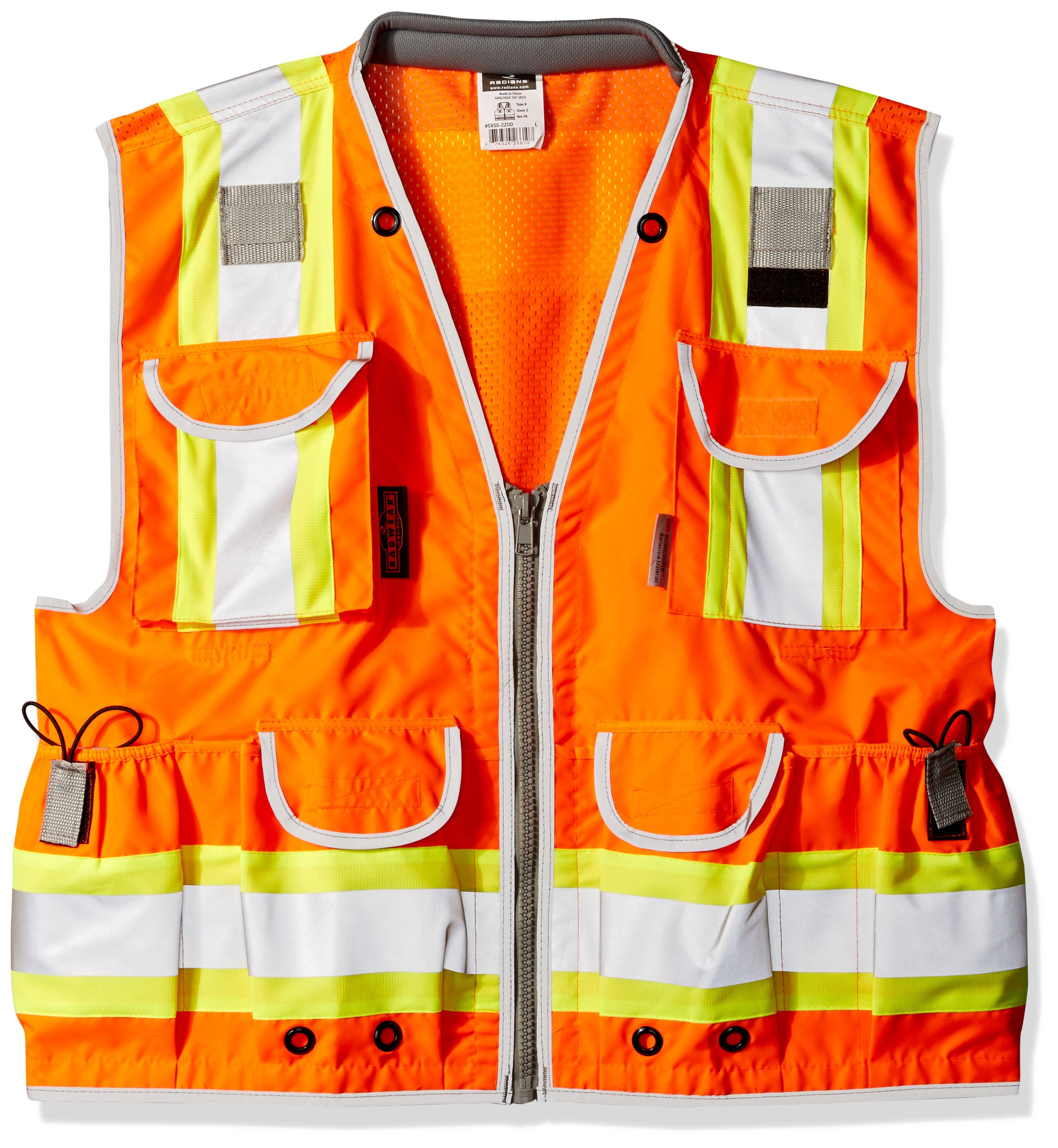 Radians SV55-2ZOD-L SV55 Class 2 Heavy Woven Two Tone Engineer Hi Viz Orange Size Large, by Radians