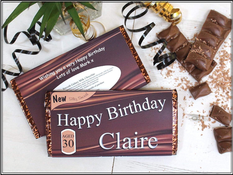 Personalised Happy Birthday 114g Galaxy Milk Chocolate Bar ~ 18th ...