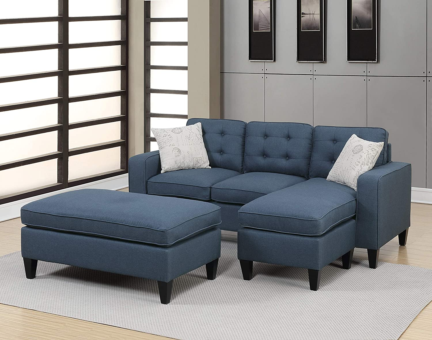 Amazon.com: Living Room Furniture Reversible sectional Sofa ...