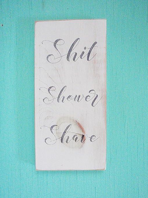 Amazon.com: Cartel divertido para baño, diseño de campa de ...