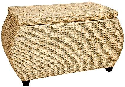 Oriental Furniture Rush Grass Storage Box   Natural
