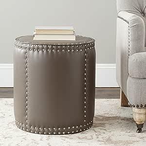 Safavieh Mercer Collection Paula Ottoman, Clay