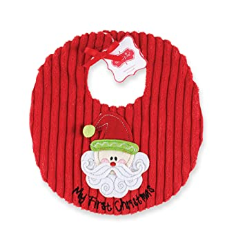 2ac643285e1 Amazon.com  Mud Pie Unisex-Baby Newborn My First Christmas Bib ...