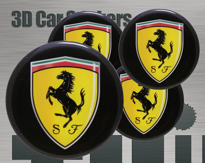 Think Ink Adesivi 3D Stickers 4 Pezzi Logo Imitazione Tutte Le Dimensioni Centro cap Wheel Coprimozzo 56 mm