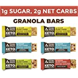 Munk Pack Keto Granola Bars with 1g Sugar, 2g Net Carbs | Keto Snacks | Chewy & Grain Free | Plant Based, Paleo-Friendly…