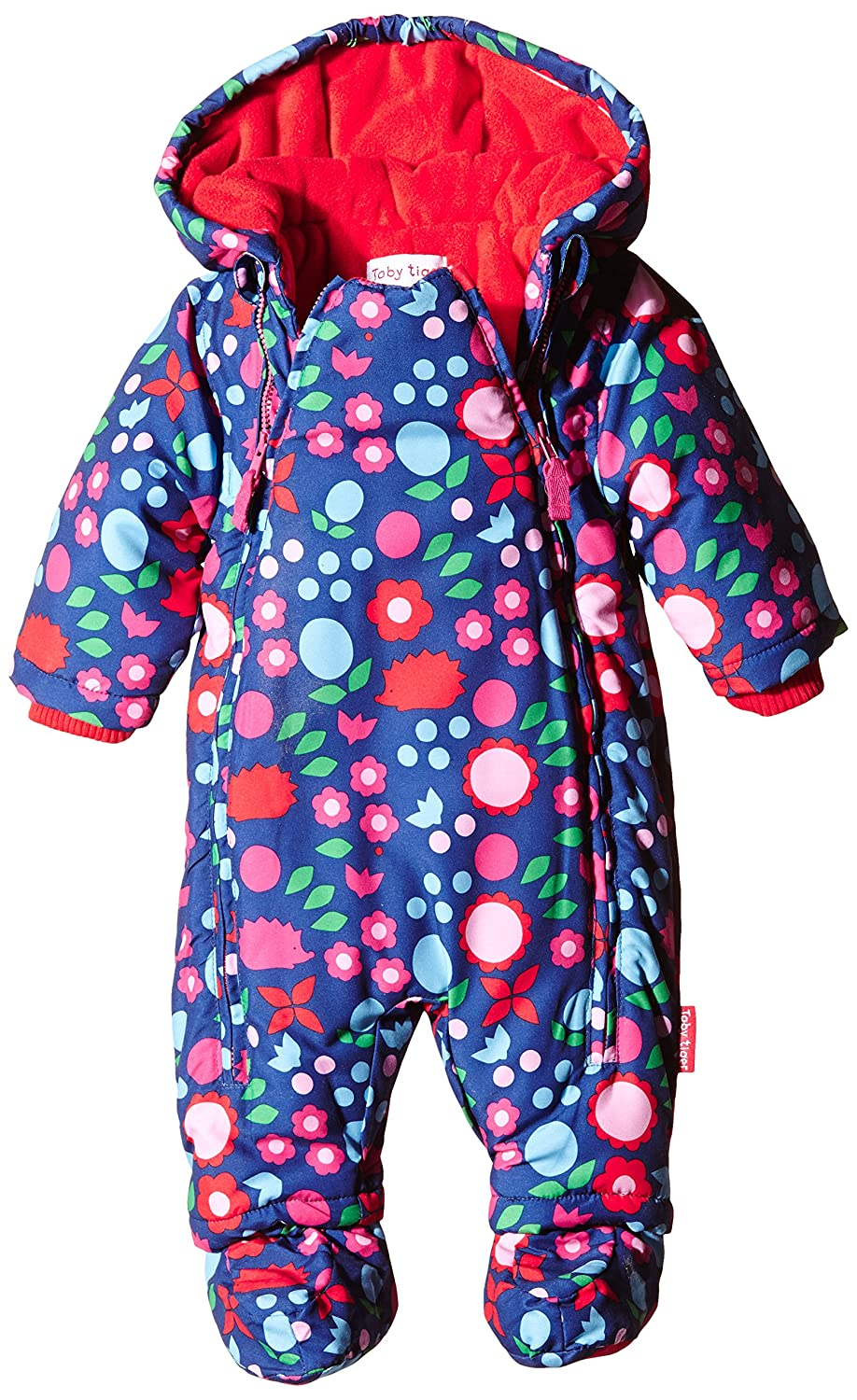 Toby Tiger - Fleece Lined with Waterproff Outer Hedgehog Snowsuit with Detachable Feet, Tuta da Neve Bimbo 0-24 SNOWHOG