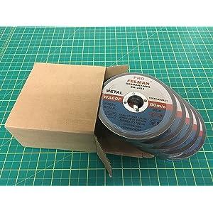 Angle Grinder Daptez /® Metal Cutting Discs Grinding 10Pk Steel Flat 125mm X 3mm