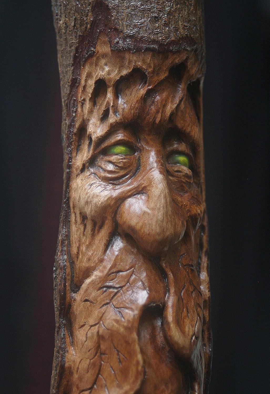 Amazon com: Woodcarving Green Man Woodspirit Tree Face