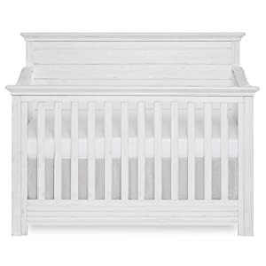 Evolur Waverly 5 in 1 Full Panel Convertible Crib, Weathered White