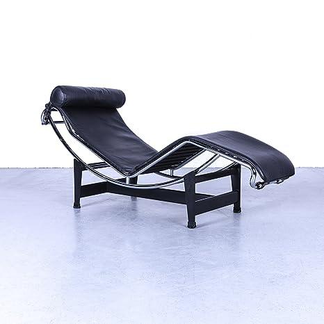 Cassina le corbosier LC 4 Designer Pelle Lettino chaise longue nero ...
