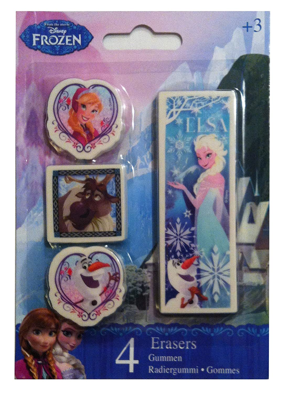 4 Disney Radiergummis Frozen mit Anna Elsa Olaf und Sven lively moments