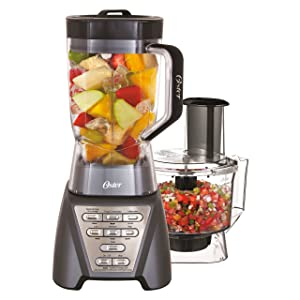 Oster Pro 1200 Metallic Grey Blender Plus Food Processor
