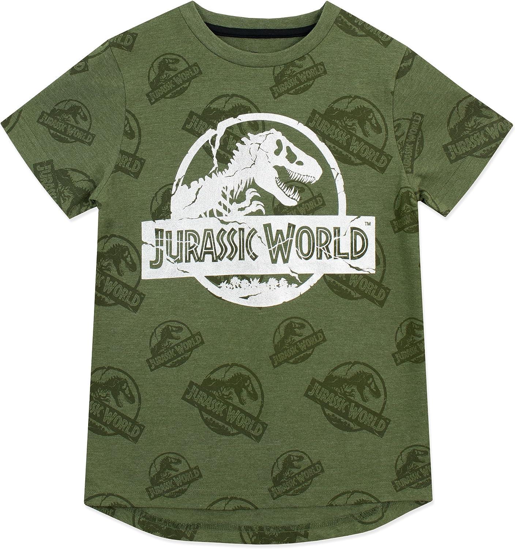 Jurassic World Maglietta a Maniche Corta per Ragazzi Logo