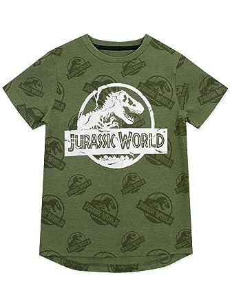 67b55d0c8 Jurassic World Boys Logo T-Shirt Ages 5 to 13 Years: Amazon.co.uk: Clothing