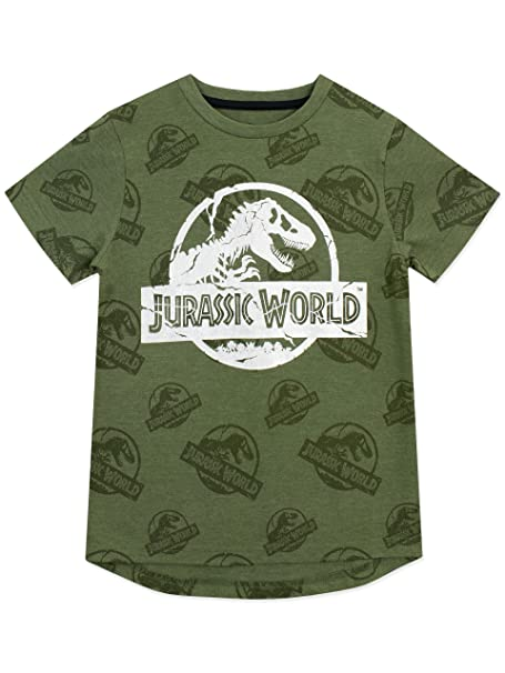 Jurassic World Boys Logo T-Shirt Size 6 Green