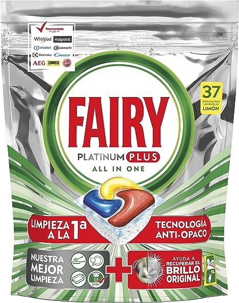 Fairy Platinum Plus Cápsulas para Lavavajillas, Elimina Restos ...