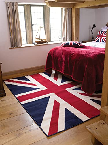 Buckingham Union Jack Rugs 120 X 160cm Amazon Co Uk