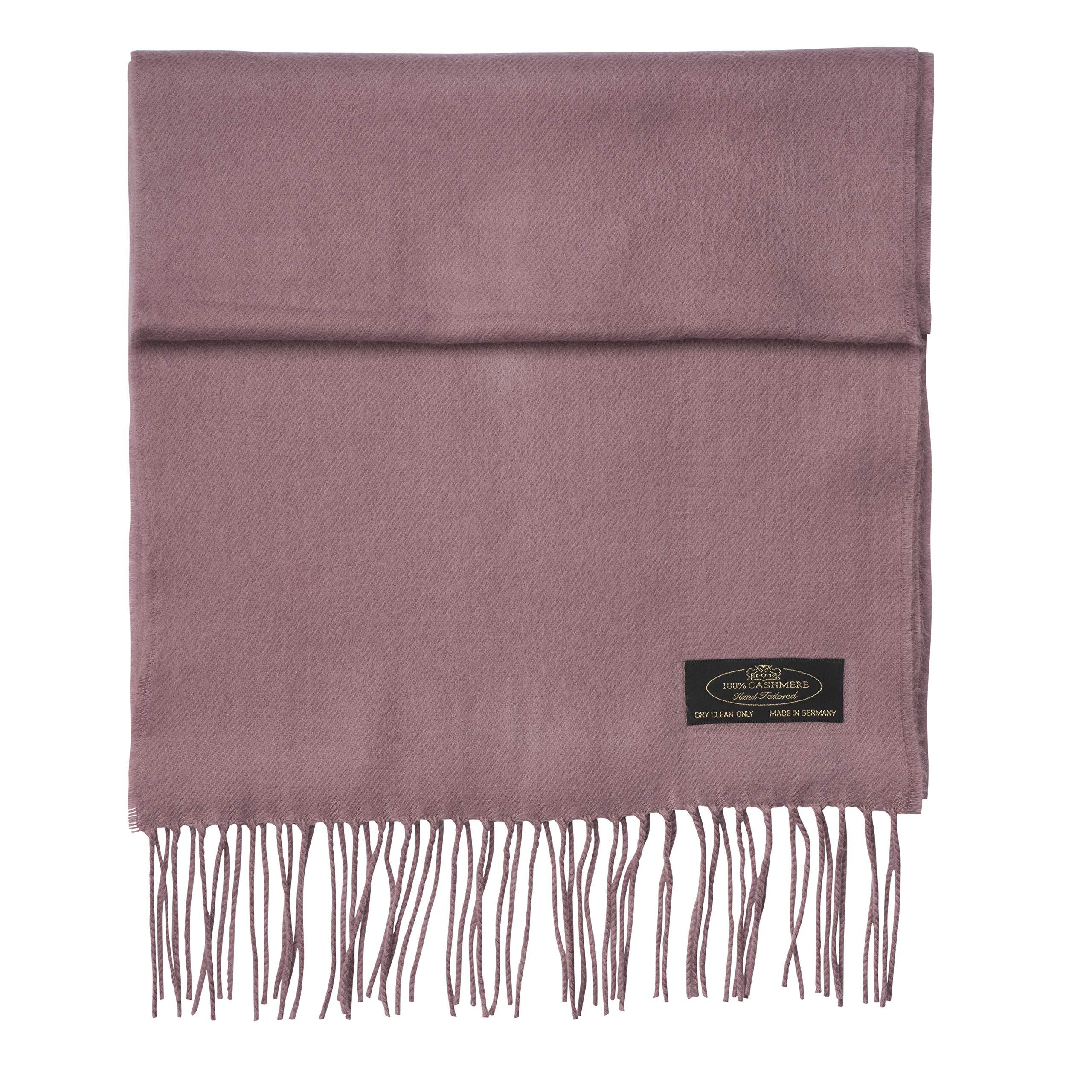 100% Cashmere Scarf Super Soft For Men And Women Warm Cozy Scarves Multiple Colors FHC Enterprize (Mauve) by FHC Enterprize