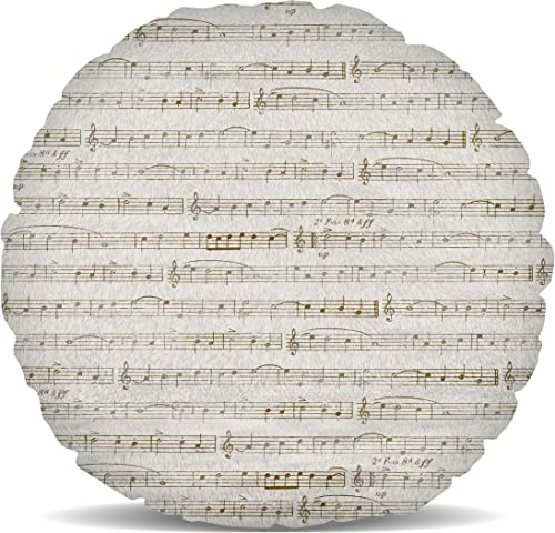 Queen of Cases Sheet Music Fleece Cushion – Round Cushion – 18in
