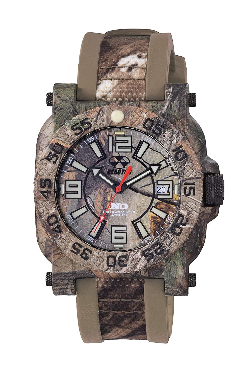 Gryphon Men s Polymer and Stainless Swiss Quartz Watch with Never Dark