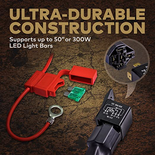 91nog8uQU8L._SX522_ amazon com lamphus 17' off road atv jeep led light bar wiring Wiring Harness Diagram at creativeand.co