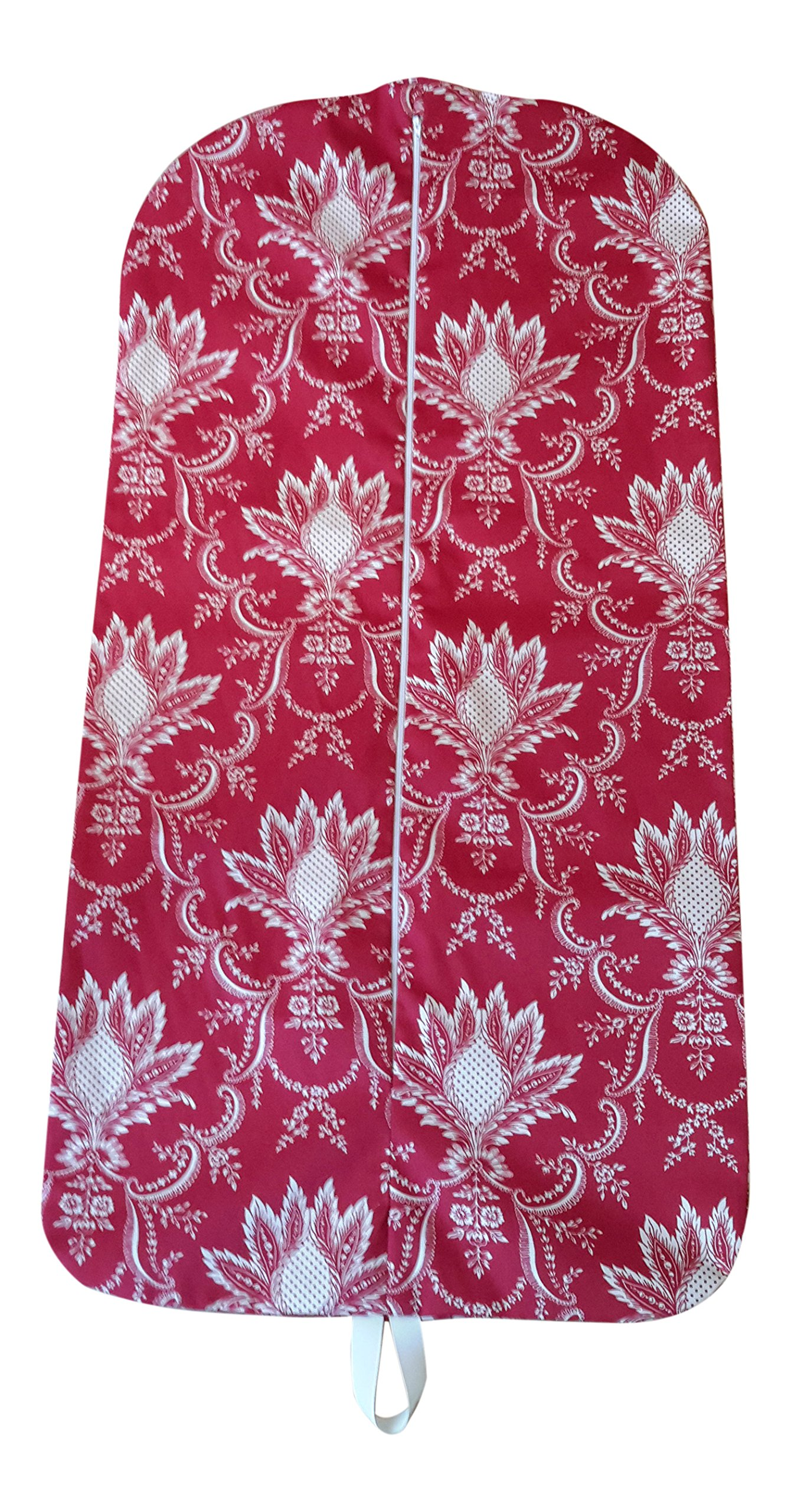 Carry It Well Women's Red Floral Medallion Hanging Garment Bag