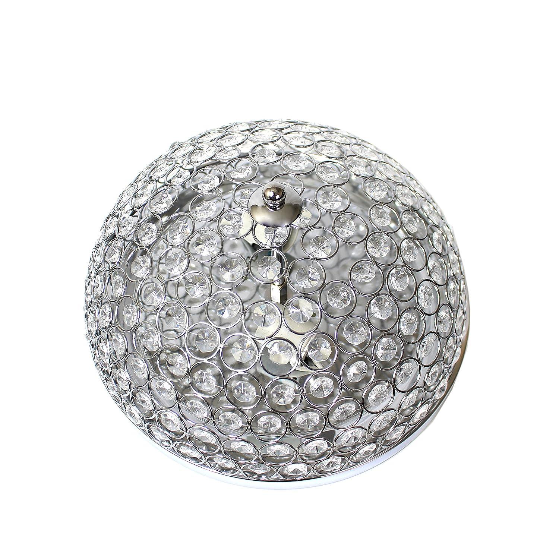 Rose Gold Elegant Designs FM1000-RGD 2 Elipse Crystal Flush Mount Ceiling Light