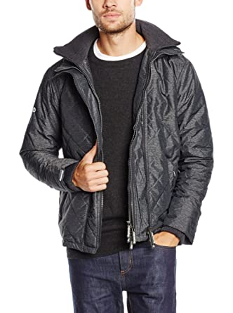 mens superdry quilted arctic windcheater in black marl (xxl) amazon