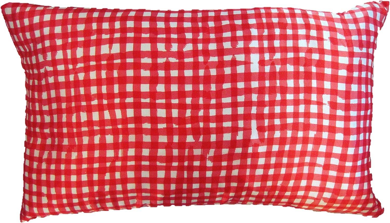 Kate Spade Red Gingham Throw Pillow 12 X 20 Rectangular Kitchen Dining