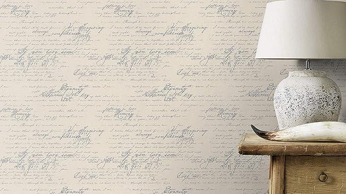 lxan 10,05/x 0,53/ Rasch 772616/449549/Colecci/ón Florentine II de papel pintado con carta de amor en beige