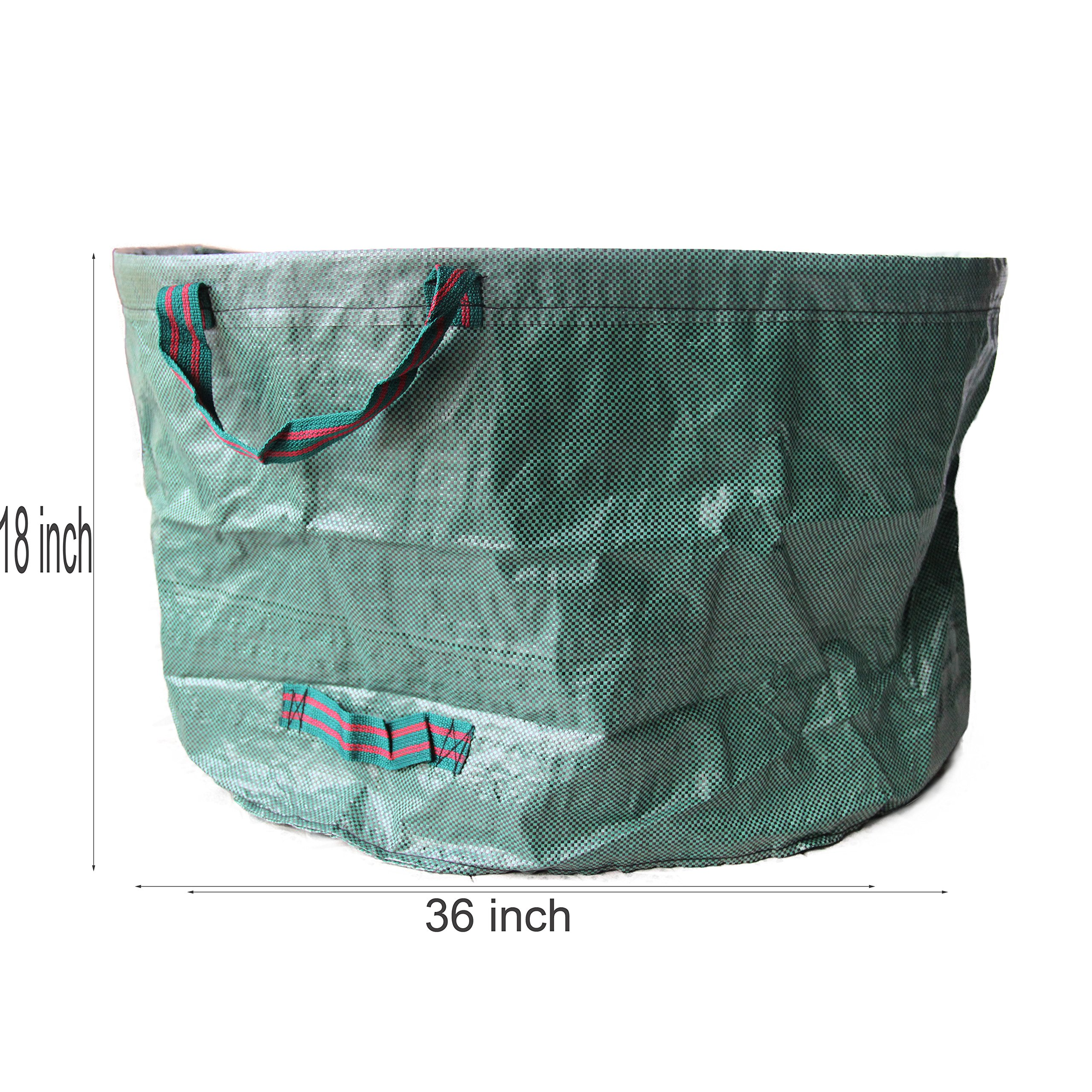 SUNWIN Lawn and Leaf Bags Garden Reusable Leaf Bag Yard Lawn Gardening Waste Bag 63 Gallons by Sunwin (Image #2)