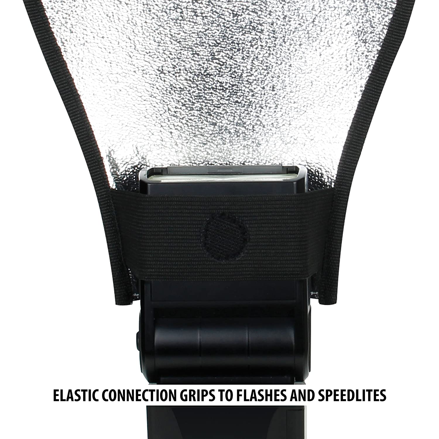 Compatible with Altura Godox YONGNUO and More Speedlites USA Gear 2 Sided Bounce Flash Diffuser Softbox with White Silver Reflector and Elastic Strap Connection for Speedlite Canon Neewer