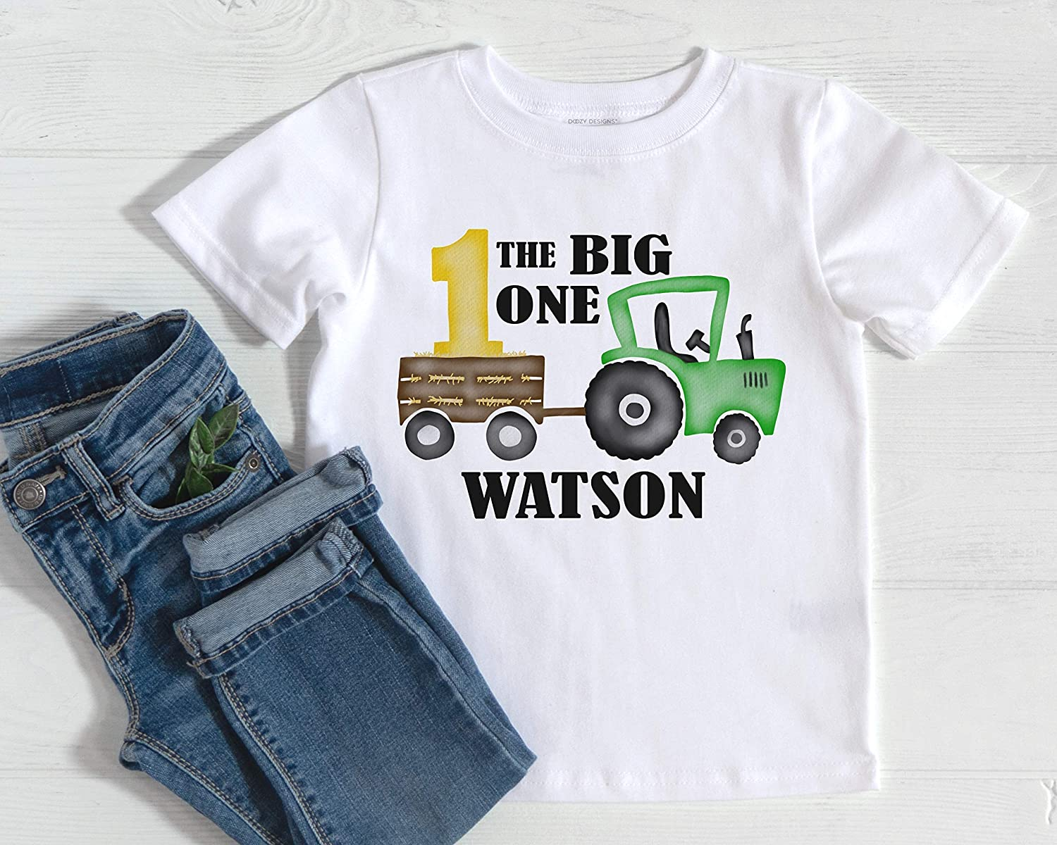 bb63 Tractor Tee Tees Shirt With Custom Name Boys 1st Birthday t-Shirt Boy Gift