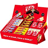 Nestlé Schokoriegel Sortimentskarton | 64 leckere Riegel aus Schokolade in einer Mix-Box | Ideal fürs Büro | 6 Sorten: KitKat (Classic, White), KitKat ChunKy (Classic, White), Lion, Nuts | (1x2,6 kg)