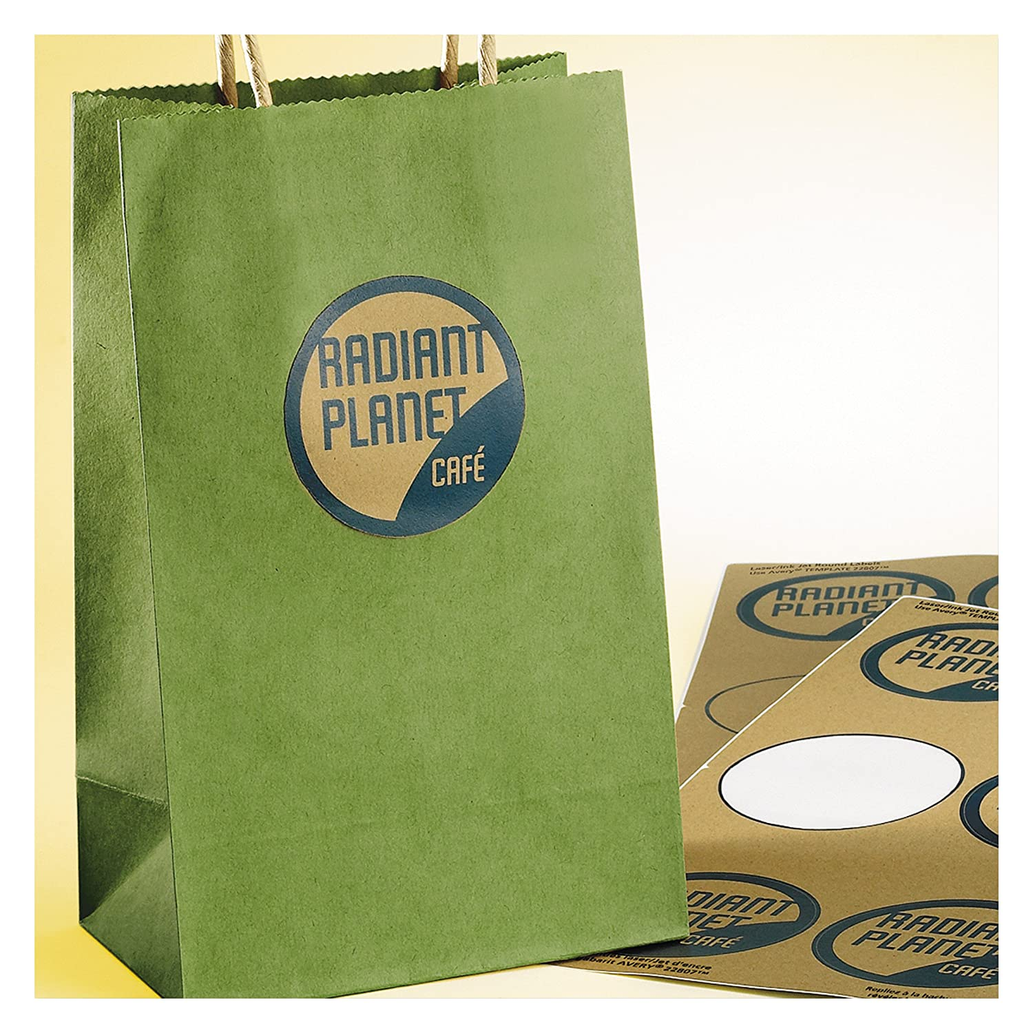 Amazon.com : Avery Print-To-The-Edge Kraft Brown Round Gift Labels ...