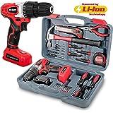 Hi-Spec - Kit di utensili per la casa, 26 pezzi, trapano avvitatore a batteria da 8 V con interruttore di velocità variabile, accessori per trapano e 25 utensili
