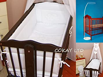 Crib Canopy Drape + all round bumper 260cm long for Swinging Crib/Cradle + Free & Crib Canopy Drape + all round bumper 260cm long for Swinging Crib ...