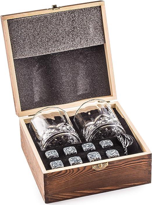 Amerigo Whisky Piedras Set de Regalo y 2 Vasos de Whisky - Sea ...