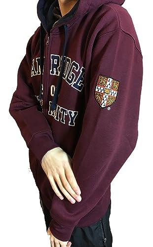 Sudadera con capucha oficial de la universidad de Cambridge - Borgoña - ropa oficial de la universid...