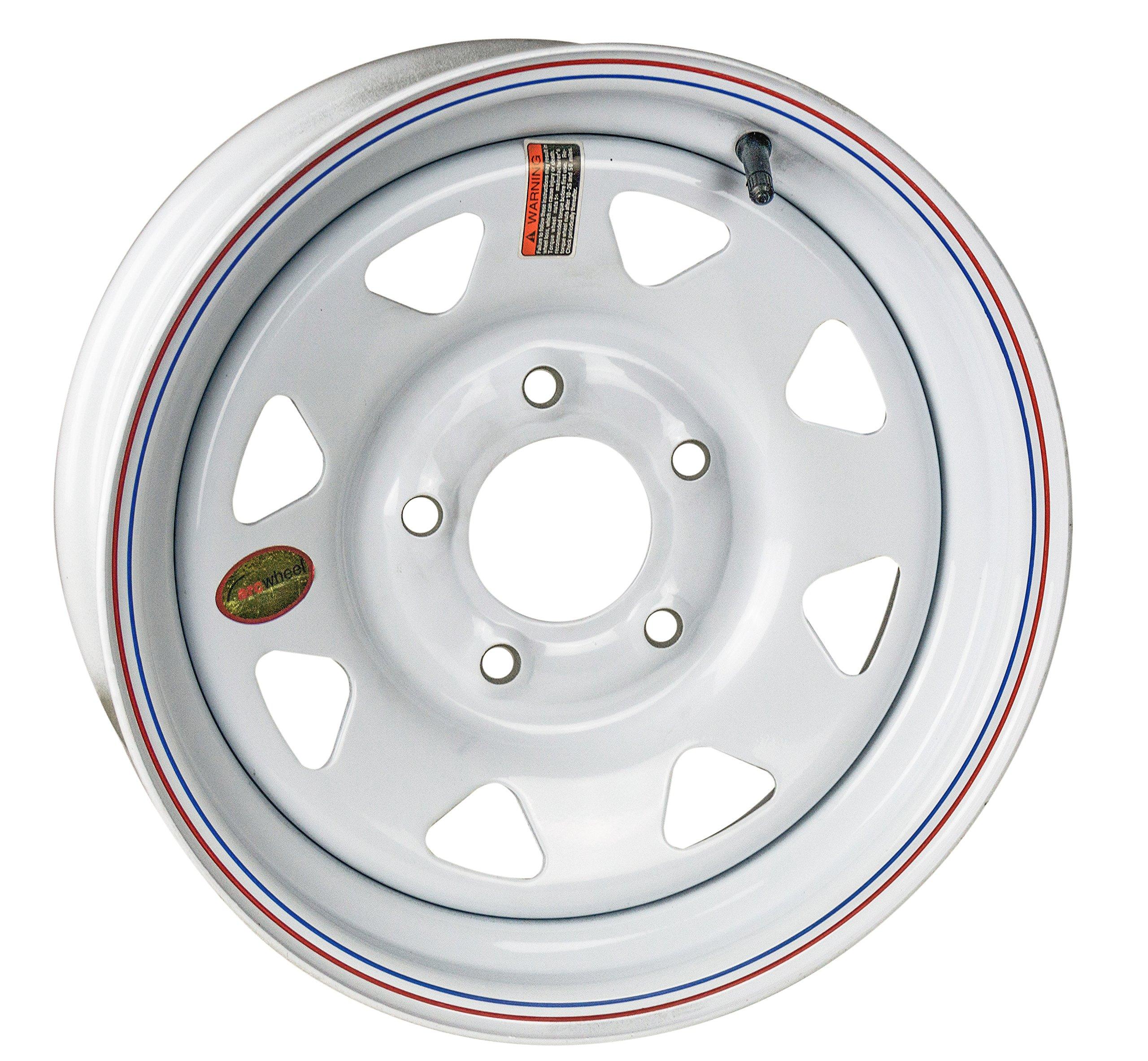 Arcwheel White Spoke Steel Trailer Wheel - 15'' x 5'' Rim - 5 on 5 1,870lb Capacity
