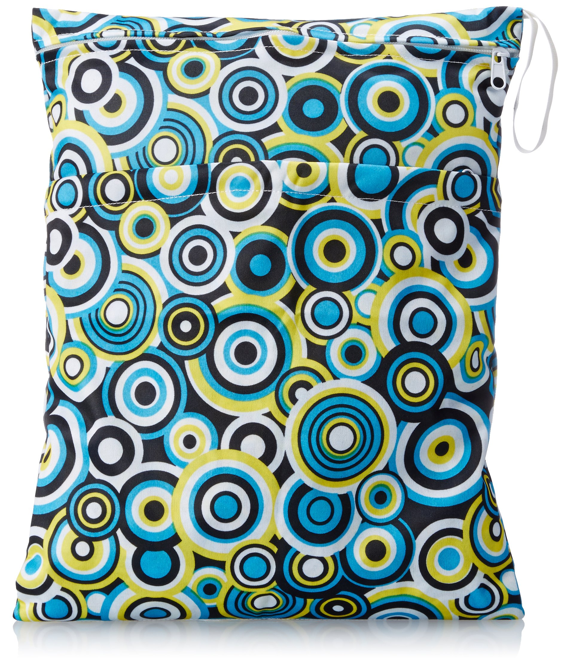 PURE STYLE Girlfriends Women's Wet Bag, Blue/Yellow Circles, One Size